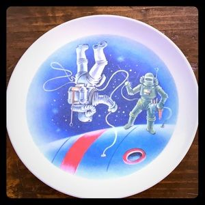 Vintage Astronaut Child's Plate